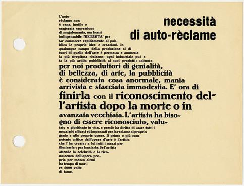 """Lettera aperta ai giovani """"artisti"""", sulle orme di Fortunato Depero."""