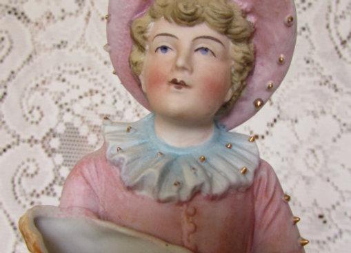 Fisher Boy Bisque Figurine