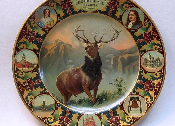 Elks Lodge 1907 Reunion Plate - Philadelphia