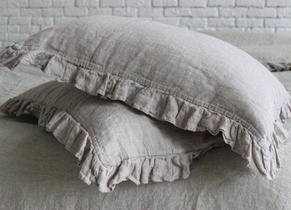 100% Linen Ruffle Pillowcase