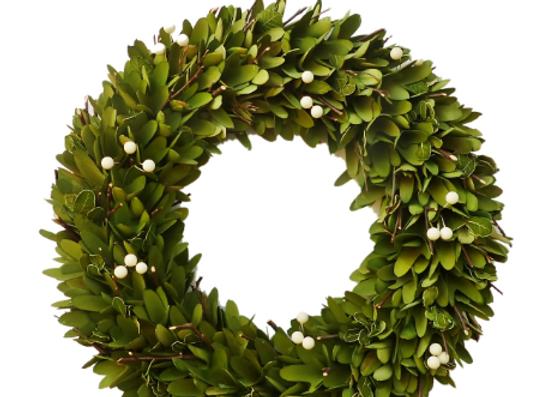 "18"" Shabby Glam Woodchip Wreath"