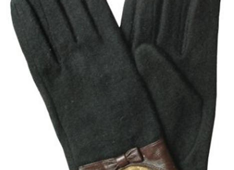 Goat Wool & Lace Winter Gloves