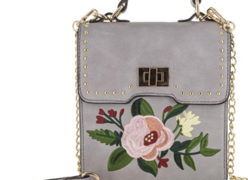 Blossom Gray Handbag