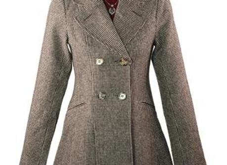 Houndstooth Cincher Coat