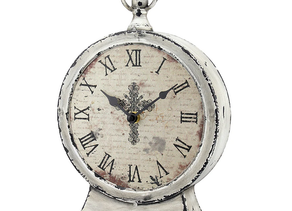 French Country Distressed Table Clock