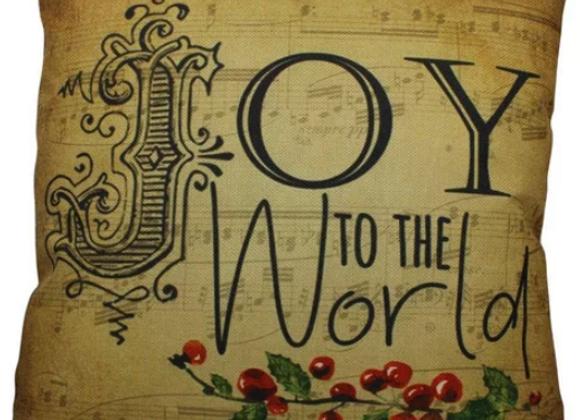 Handmade Joy To The World Pillow