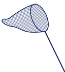 icon of a dark blue fishing net
