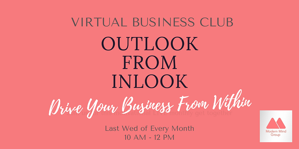 Outlook From Inlook - Virtual Business Club