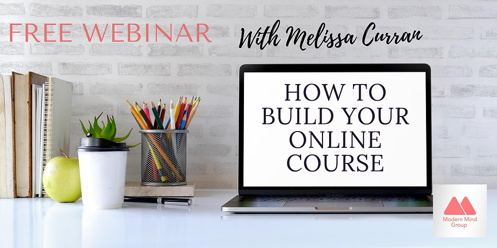 How To Build Your Online Course