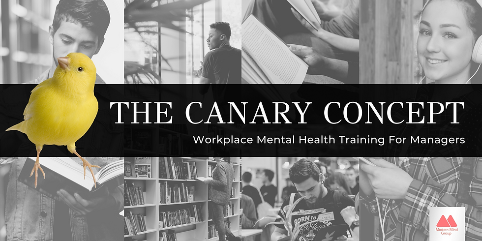 The Canary Concept - Workplace Mental Health Course for Managers