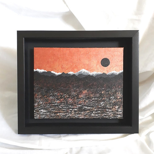 Mountainscape Copper & Black 8x10 inches #3