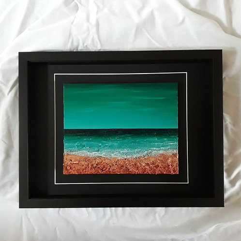 Turquoise/Green & Copper 8x10 inches #2