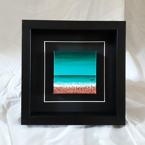 Turquoise & Copper 4x4 inches #6