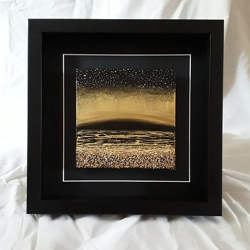 Black & Gold - Reflections 6x6 inches #4