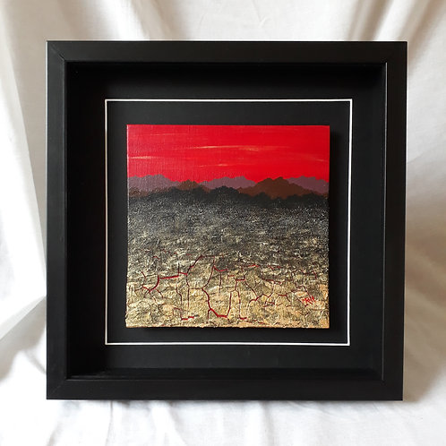 Mountainscape Red 8x8 inches #5