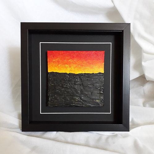 Yellow Red & Black 6x6 inches #8