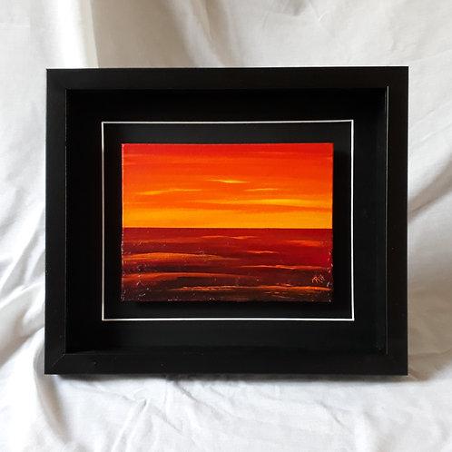 Orange Crimson 6x8 inches #1