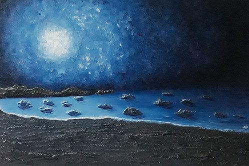 Moonscape 2: Prussian Blue
