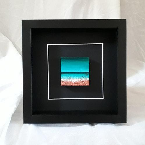 Turquoise & Copper 2.75x2.75 inches #1