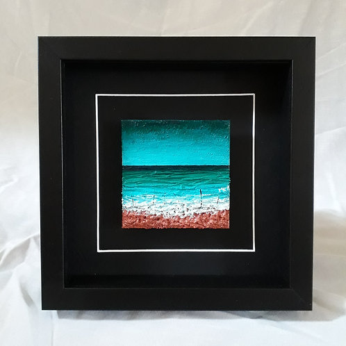 Turquoise & Copper 4x4 inches #9