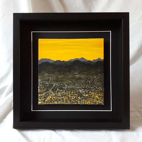 Mountainscape Yellow 8x8 inches #4