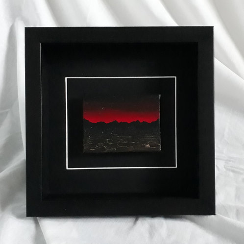 Mountainscape - Red & Black 3x4 inches #5