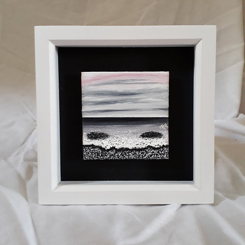 Black & White with Pink 4x4 inches #8
