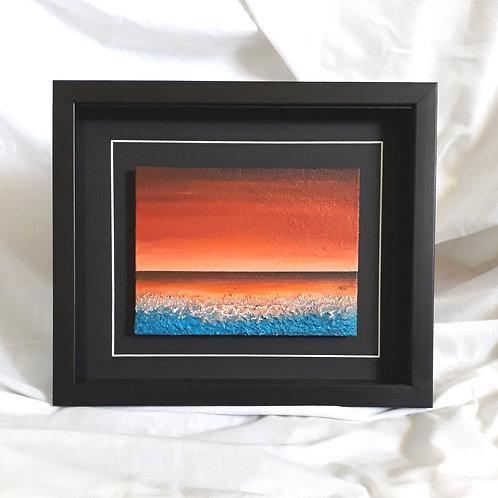 Burnt Sienna, Orange & Blue 6x8 inches #2