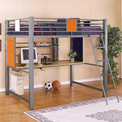 grey-iron-loft-bed-with-brown-desk-and-ladder-on-brown-wooden-laminate-floor-728x728