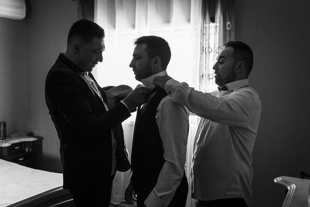 Irmãos e noivo
