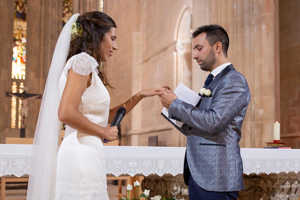 troca de alianças wedding ring exchange