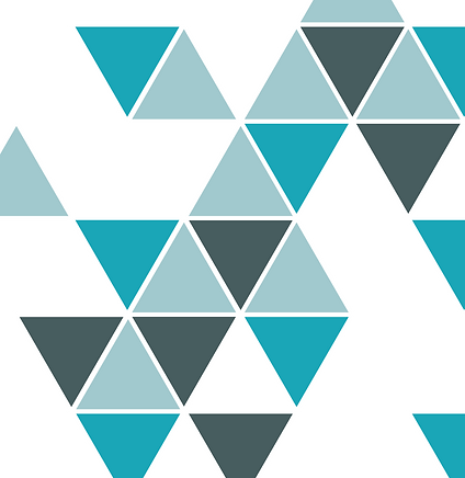 Logos of triangles stacked on top of eachother