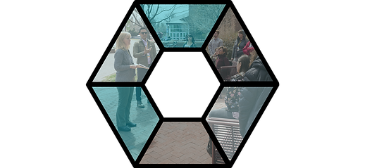 Knowledge Exchange logo with people learning in background