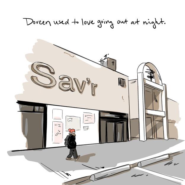 Courtney Moore illustration artist Doreen comic