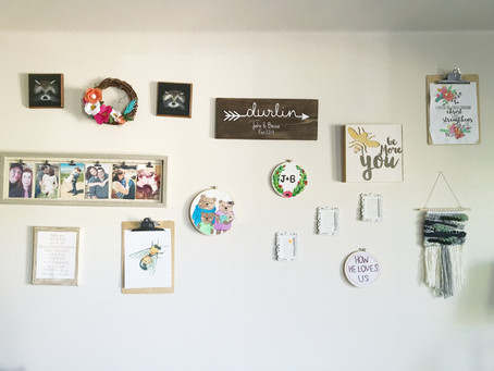 3 Gallery Wall tips : featuring Marquis Weaves!