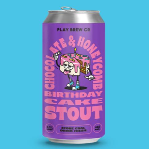 Play Brew - Chocolate & Honeycomb Birthday Cake Milk Stout