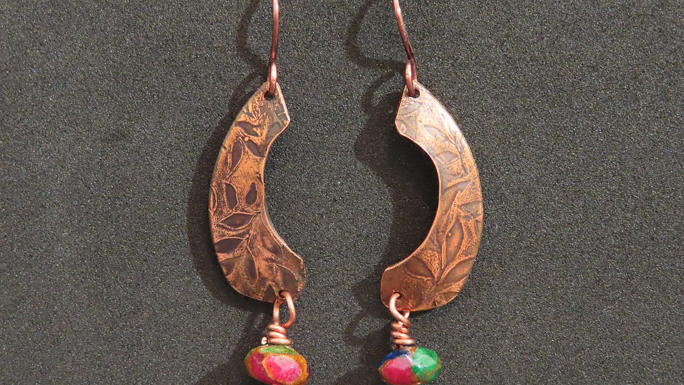 Copper Earrings #2052