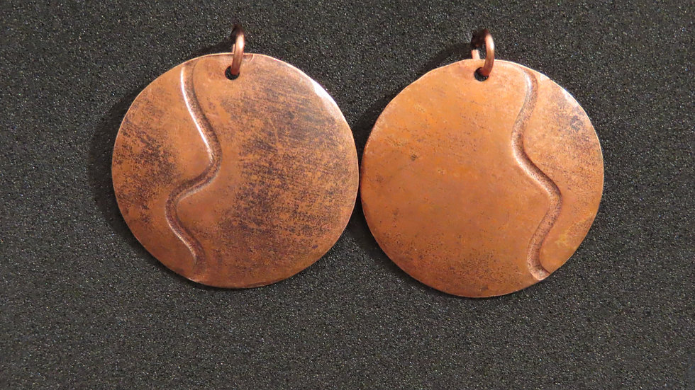 Copper Earrings #2057