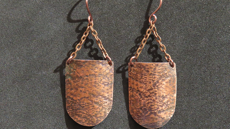 Copper Earrings #2047
