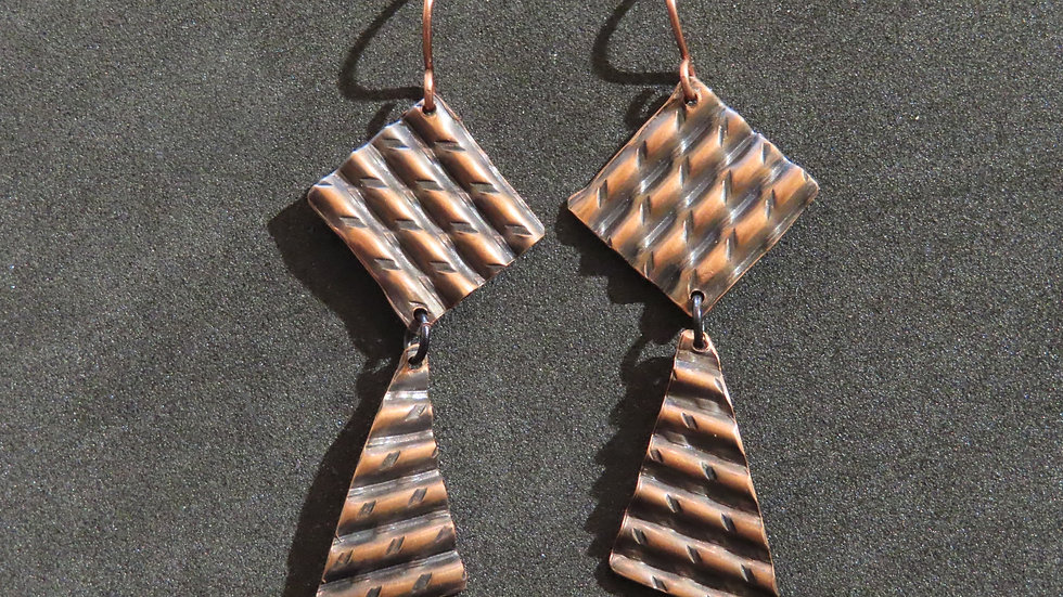 Copper Earrings #2042