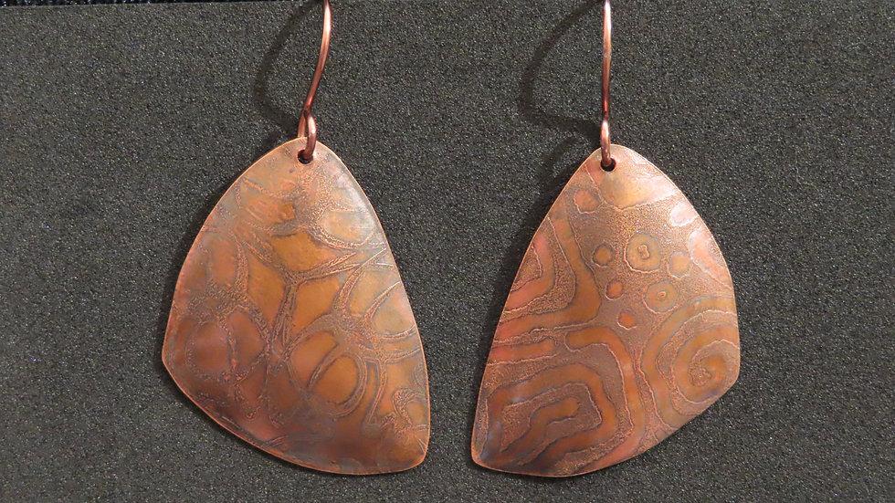 Copper Earrings #2056