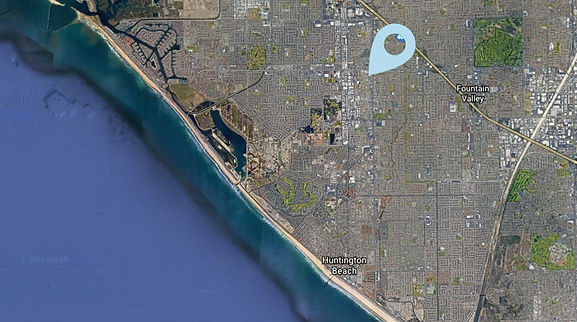 Huntington Beach, CA tree filter map