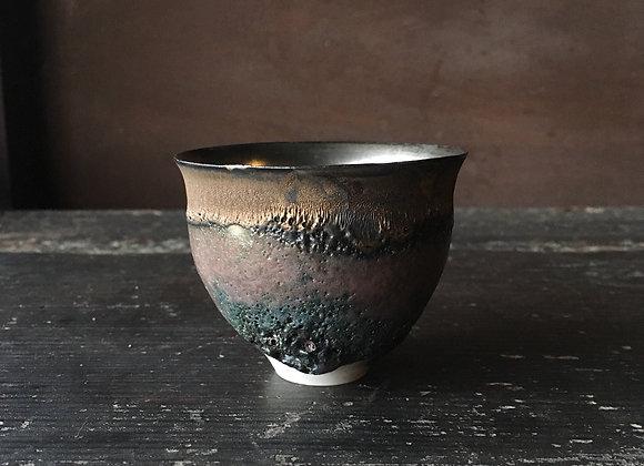 銀彩ぐい呑  sake cup