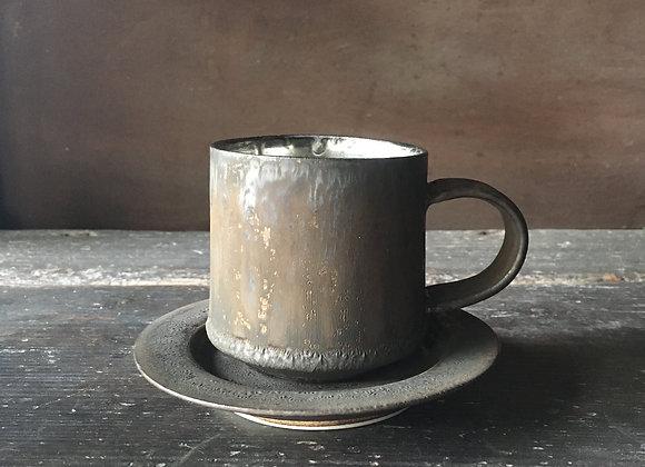 銀彩カップ&ソーサー  cup and saucer