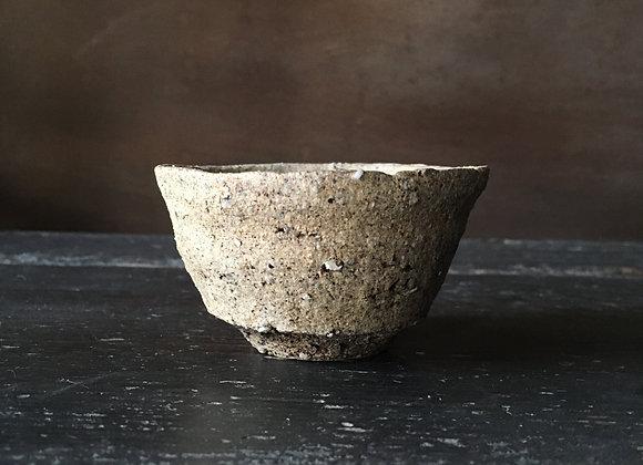 焼き締めぐい呑  sake cup