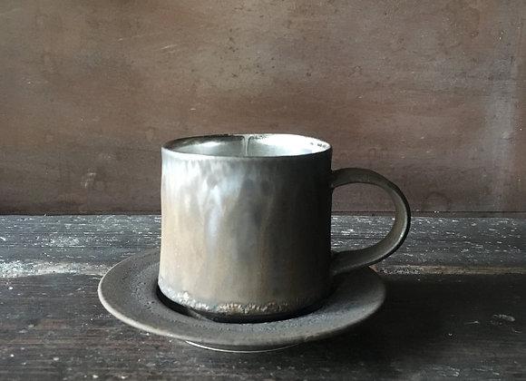 銀彩カップ&ソーサー cup & saucer