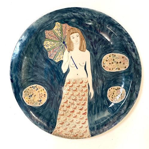 STUDIO POTTERY  - vintage decorative ceramic plate