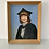 Thumbnail: PORTRAIT YOUNG WOMAN GRADUATE small vintage painting framed 1977