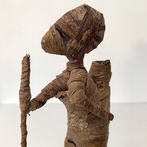 WOMAN AND CHILD - hand crafted vintage kenyan besmo figure