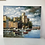 Thumbnail: HARBOUR SCENE WITH BOATS - oil on canvas vintage